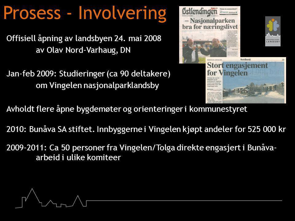 Prosess - Involvering Offisiell åpning av landsbyen 24. mai 2008