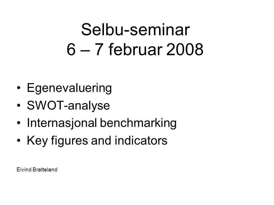 Selbu-seminar 6 – 7 februar 2008