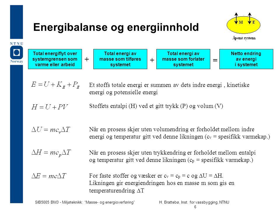 Energibalanse og energiinnhold
