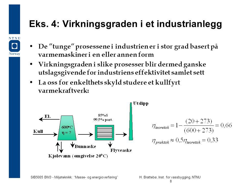 Eks. 4: Virkningsgraden i et industrianlegg
