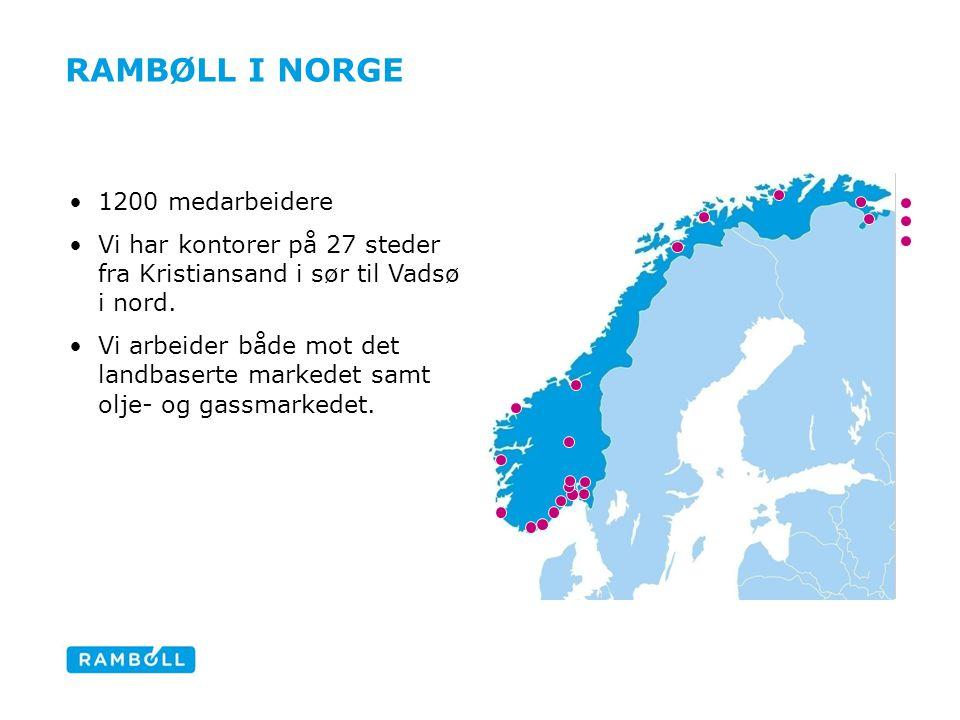 Rambøll i Norge 1200 medarbeidere