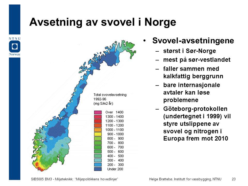 Avsetning av svovel i Norge