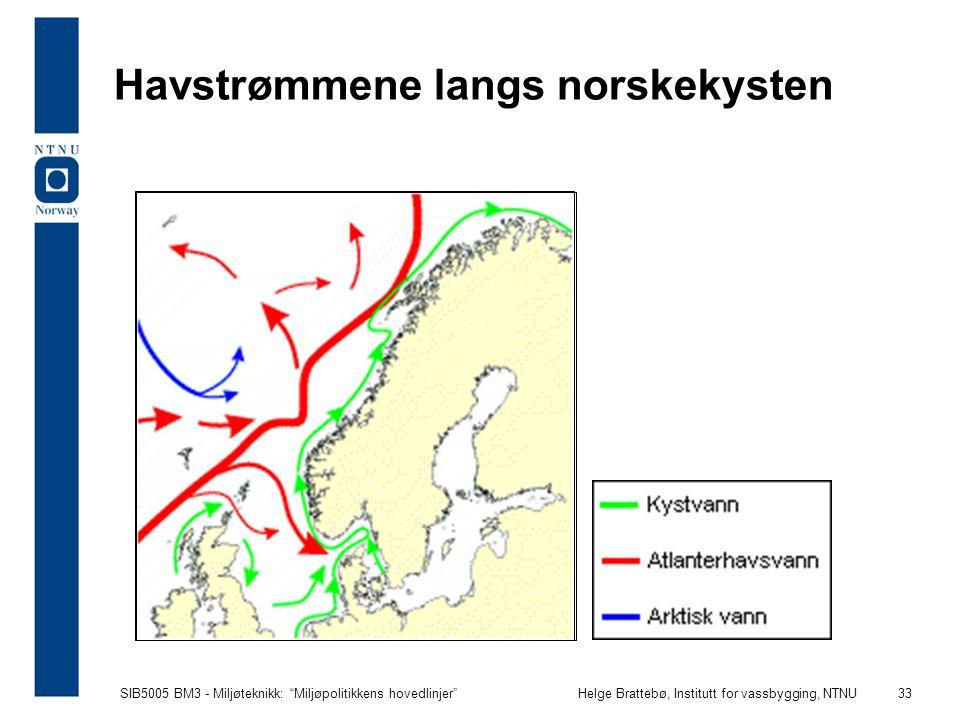 Havstrømmene langs norskekysten