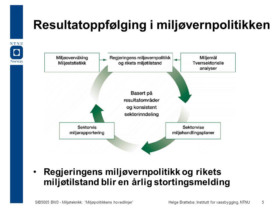 Resultatoppfølging i miljøvernpolitikken