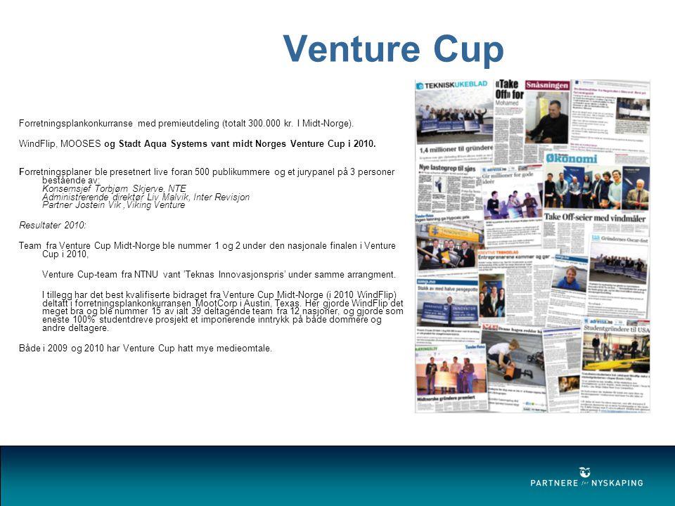 Venture Cup Internasjonalt konkurransedyktig