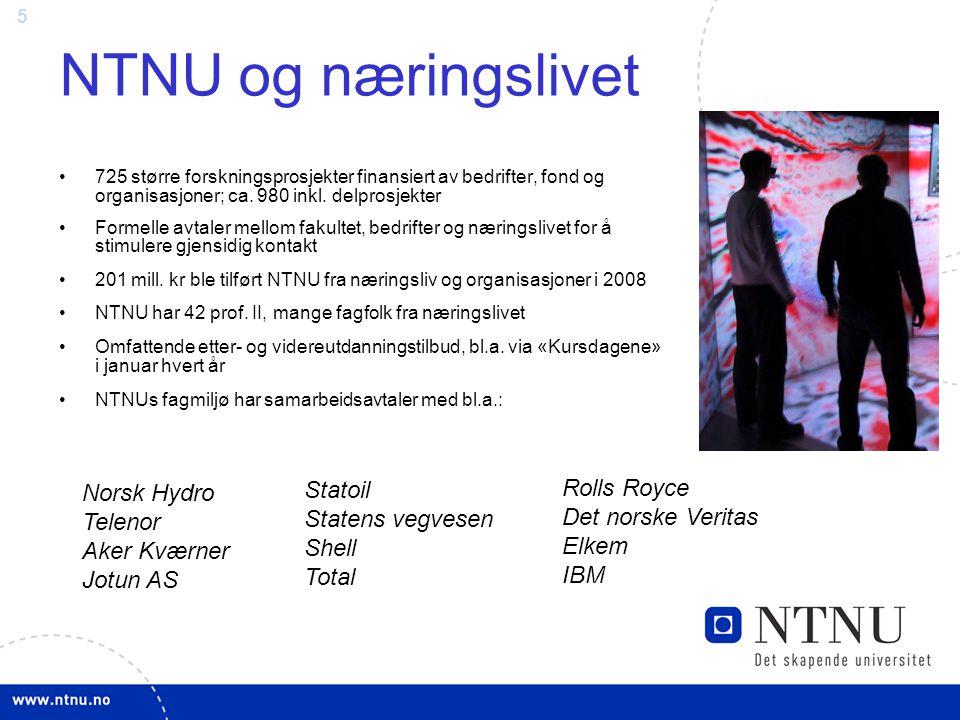 NTNU og næringslivet Statoil Statens vegvesen Rolls Royce Norsk Hydro