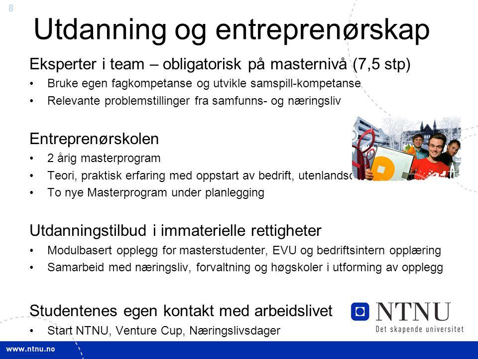Utdanning og entreprenørskap