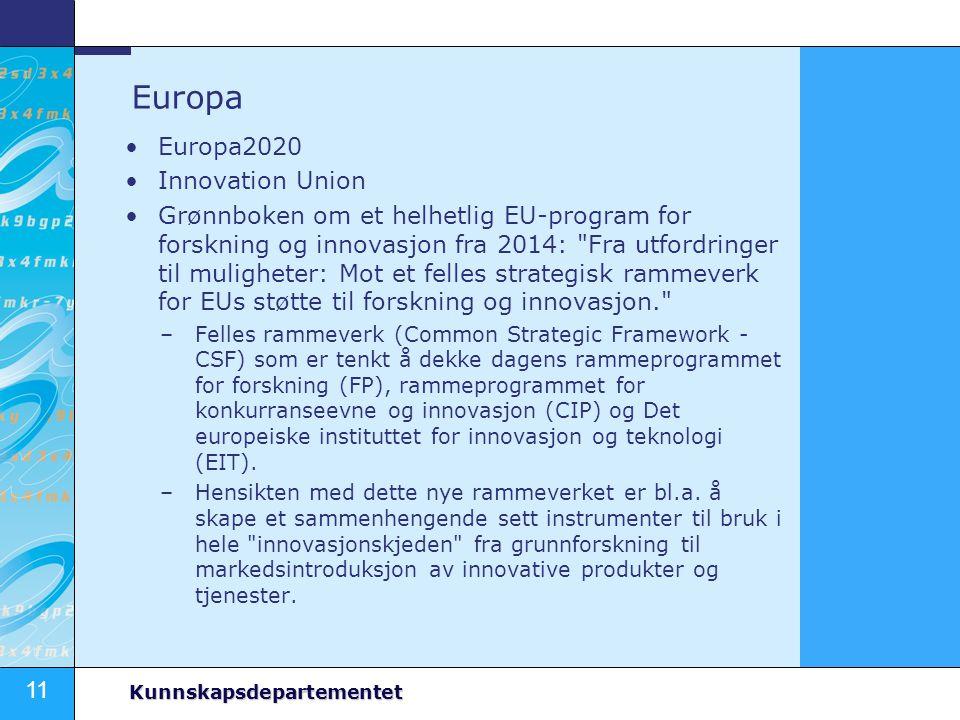 Europa Europa2020 Innovation Union