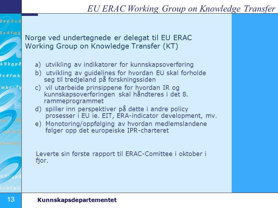 EU ERAC Working Group on Knowledge Transfer
