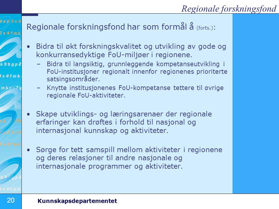 Regionale forskningsfond
