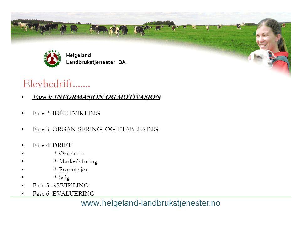 Elevbedrift....... www.helgeland-landbrukstjenester.no
