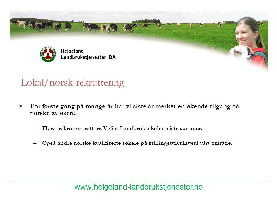 Lokal/norsk rekruttering
