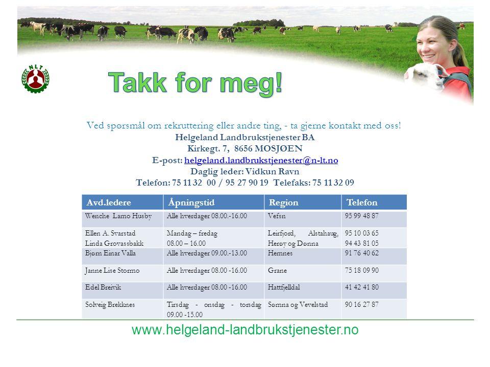 Takk for meg! www.helgeland-landbrukstjenester.no