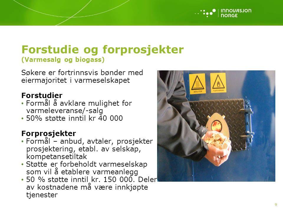 Forstudie og forprosjekter (Varmesalg og biogass)