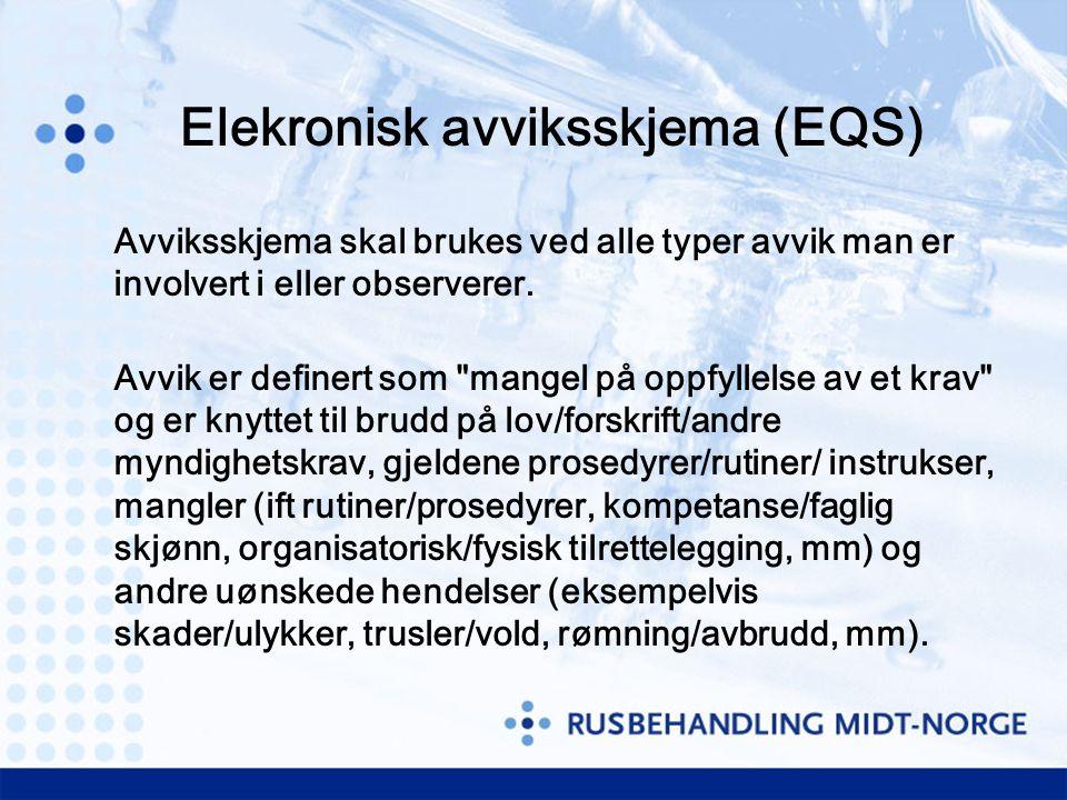 Elekronisk avviksskjema (EQS)