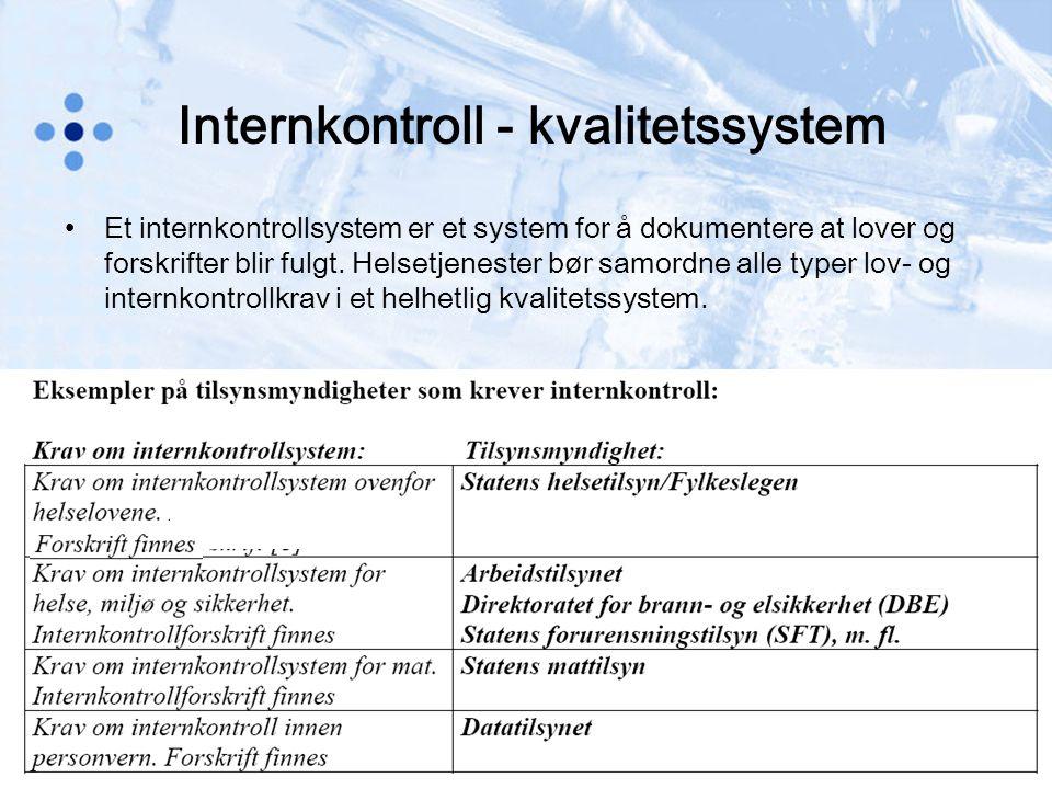 Internkontroll - kvalitetssystem