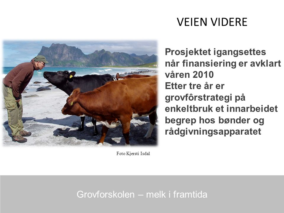 Grovforskolen – melk i framtida