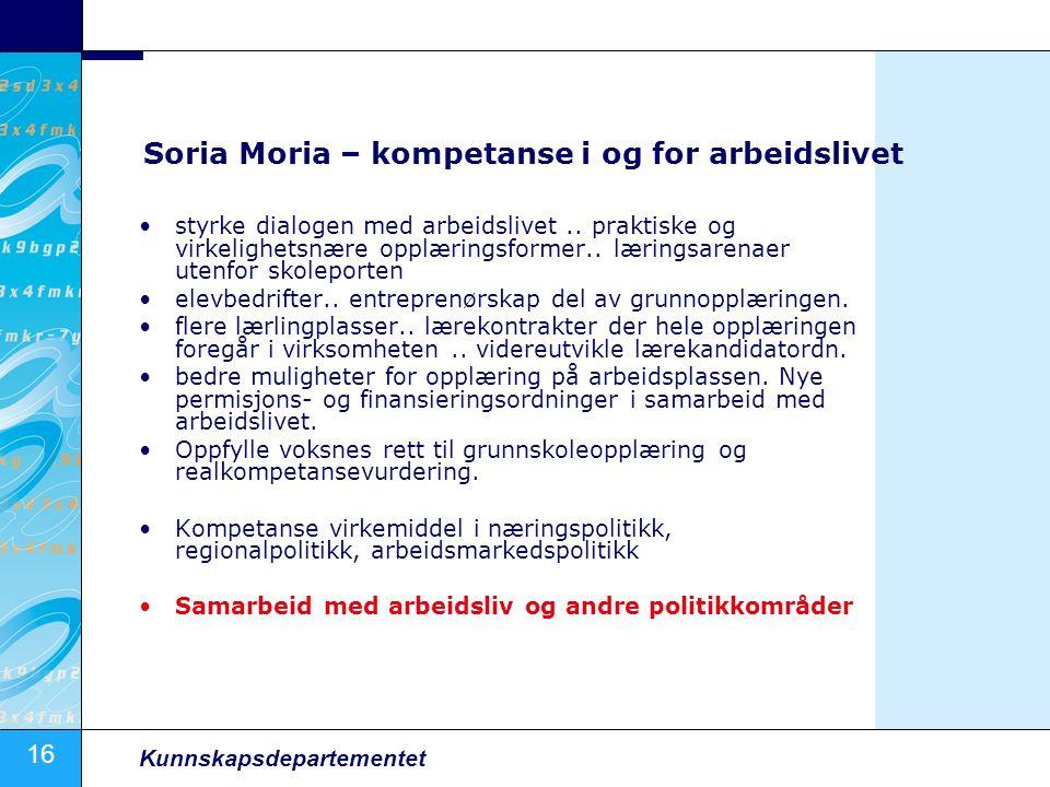 Soria Moria – kompetanse i og for arbeidslivet