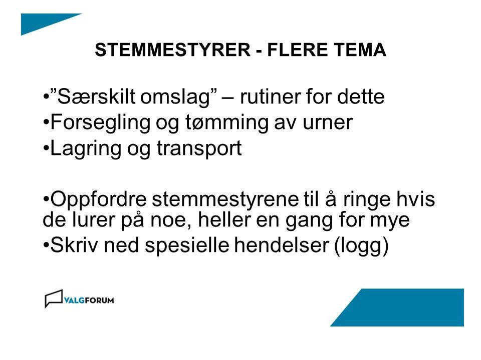STEMMESTYRER - FLERE TEMA