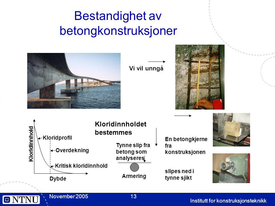 Bestandighet av betongkonstruksjoner