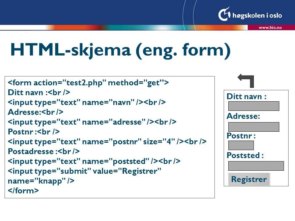 HTML-skjema (eng. form)
