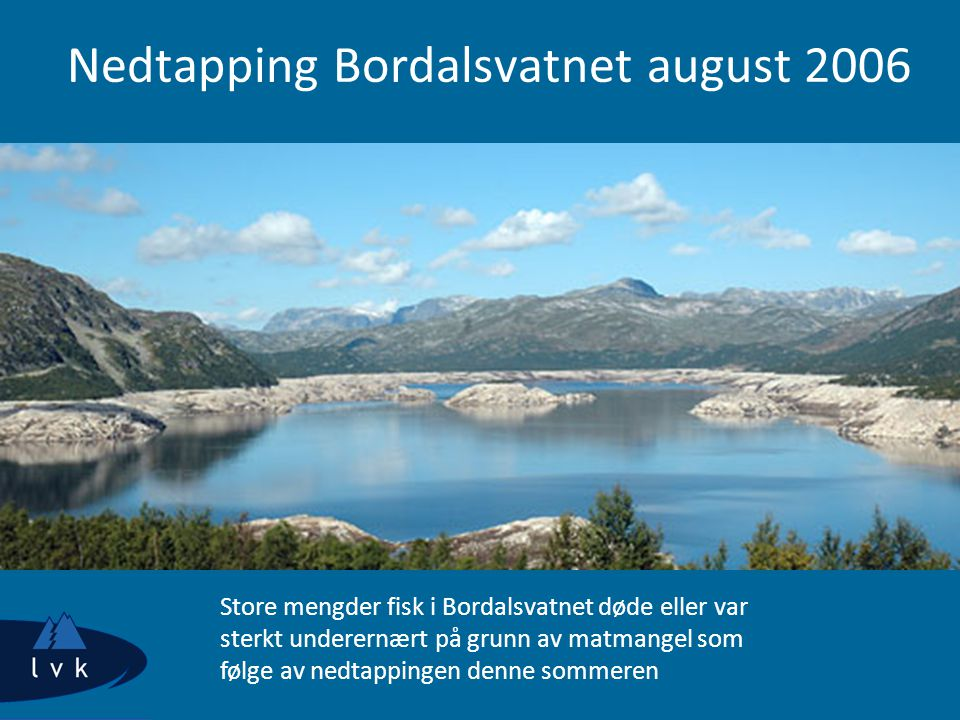 Nedtapping Bordalsvatnet august 2006