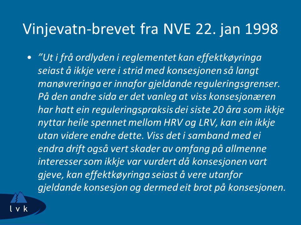 Vinjevatn-brevet fra NVE 22. jan 1998
