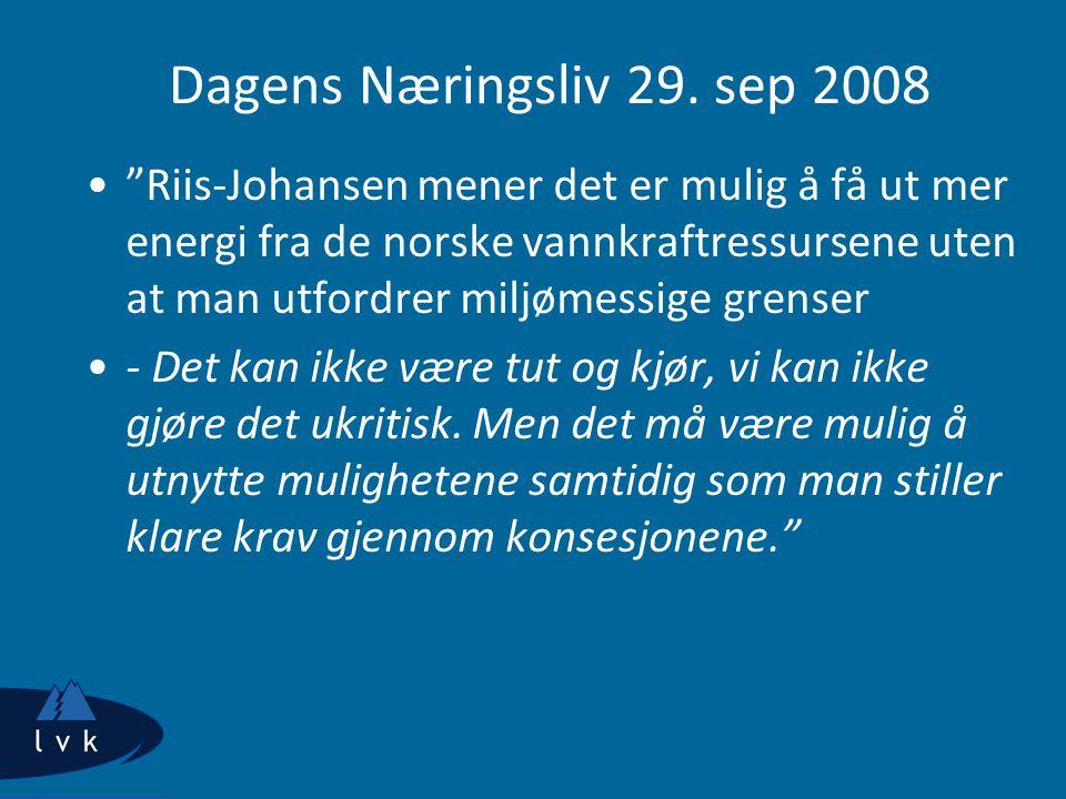 Dagens Næringsliv 29. sep 2008