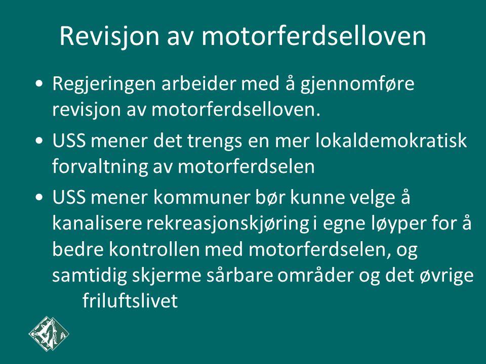 Revisjon av motorferdselloven