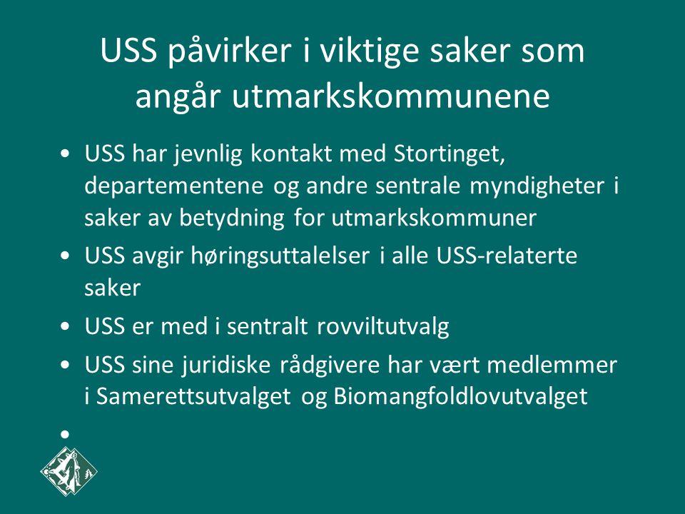 USS påvirker i viktige saker som angår utmarkskommunene