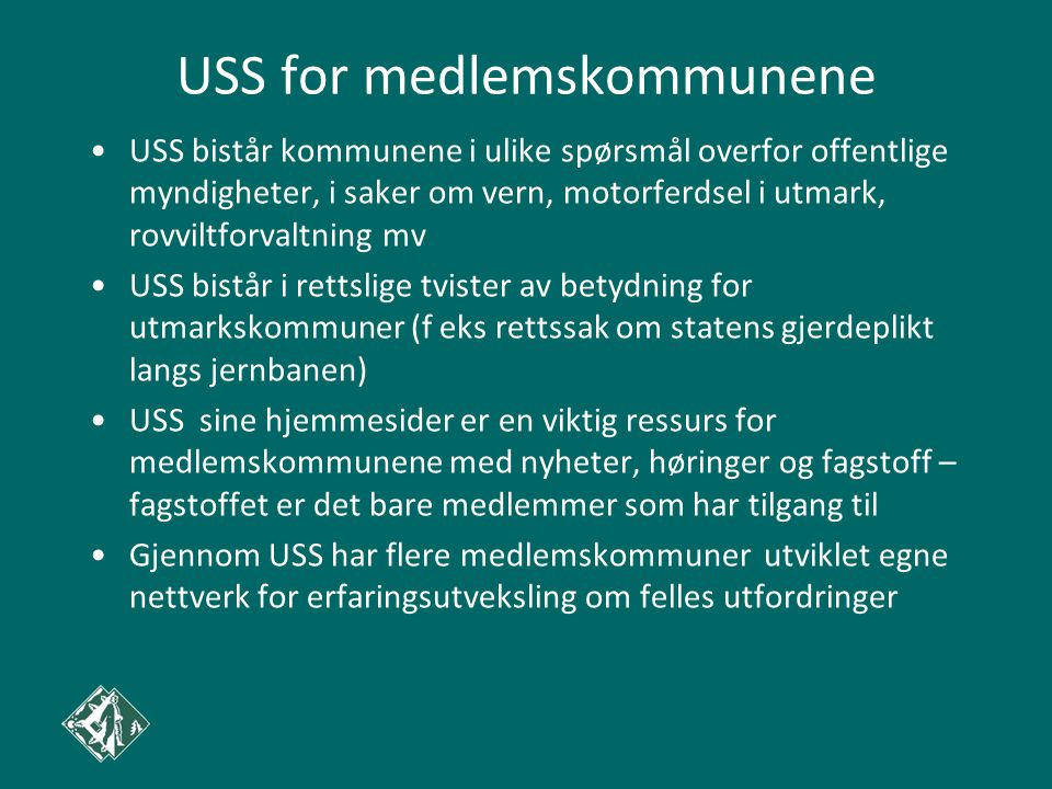 USS for medlemskommunene