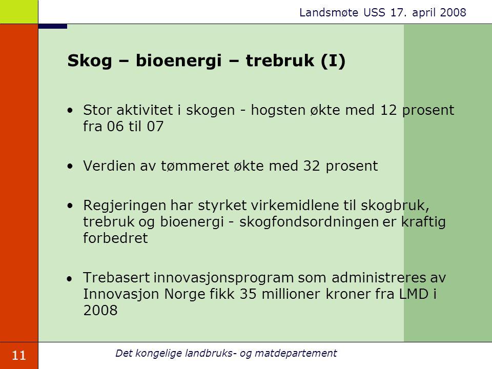 Skog – bioenergi – trebruk (I)