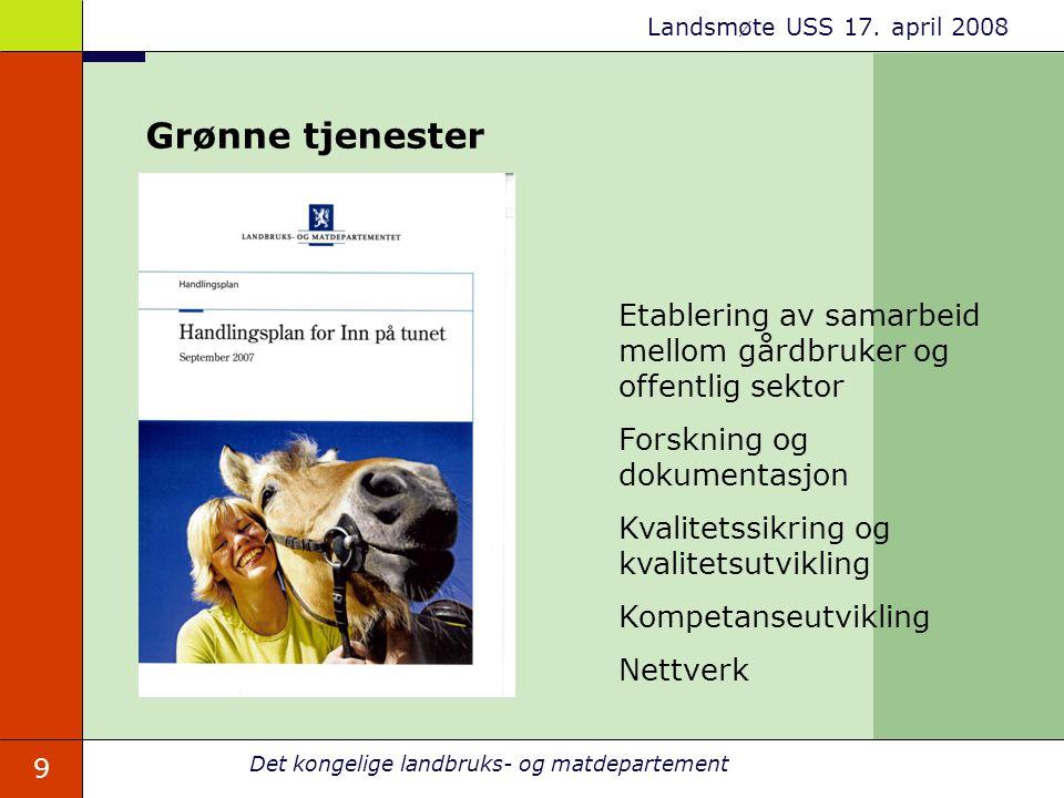 Grønne tjenester Etablering av samarbeid mellom gårdbruker og offentlig sektor. Forskning og dokumentasjon.