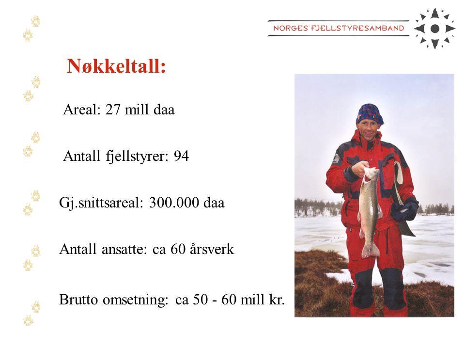 Nøkkeltall: Areal: 27 mill daa Antall fjellstyrer: 94