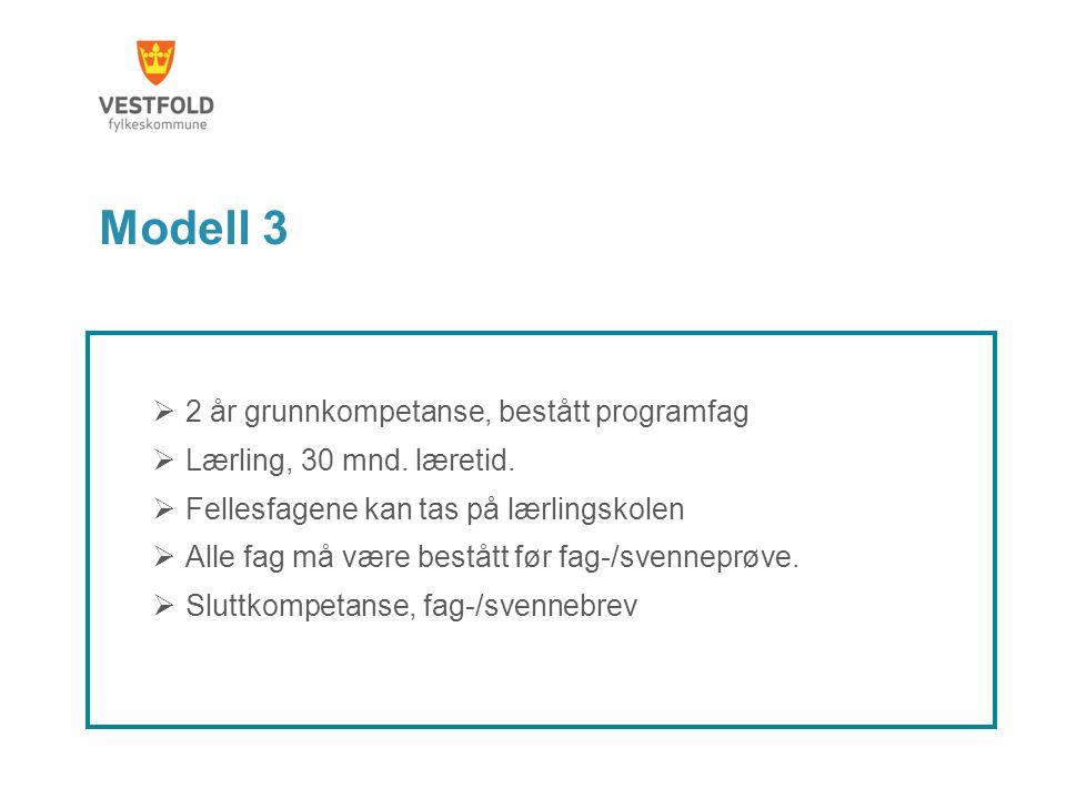 Modell 3 2 år grunnkompetanse, bestått programfag