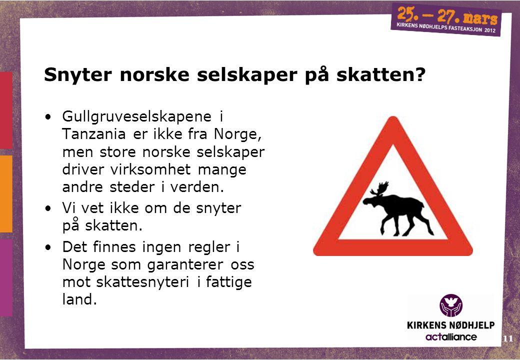 Snyter norske selskaper på skatten