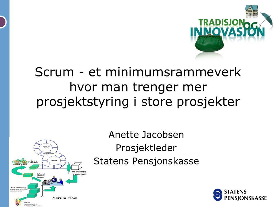 Anette Jacobsen Prosjektleder Statens Pensjonskasse