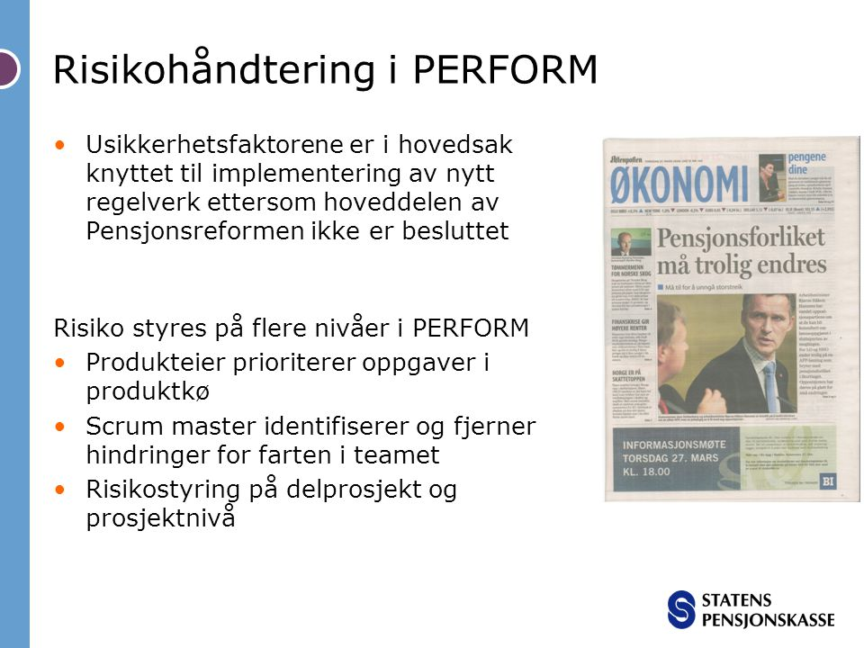 Risikohåndtering i PERFORM