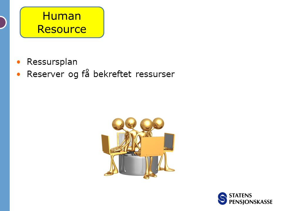 Human Resource Ressursplan Reserver og få bekreftet ressurser