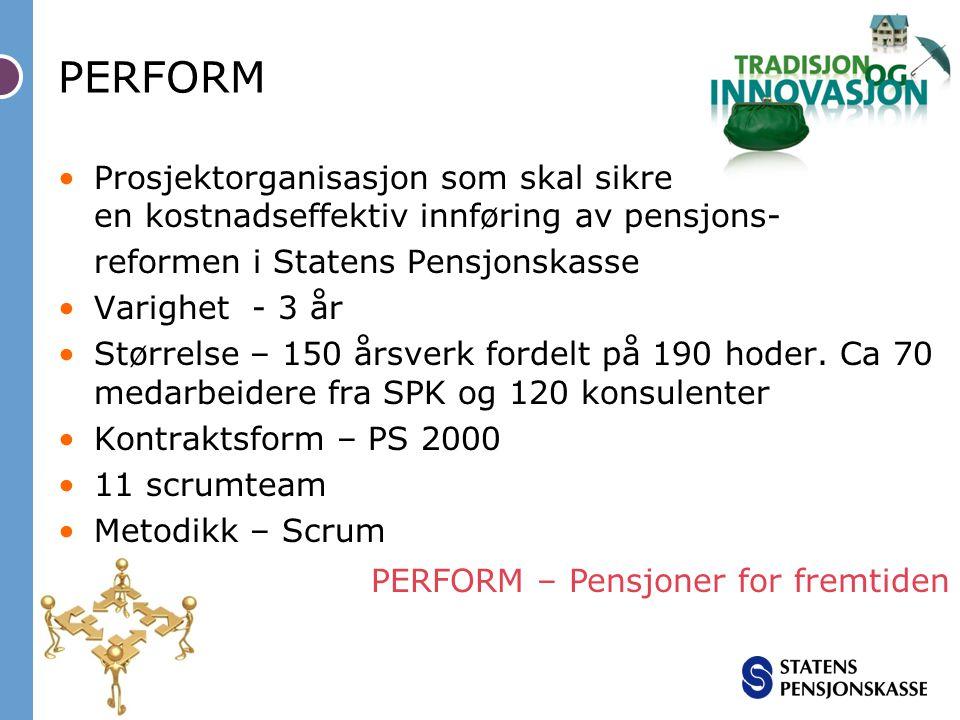 PERFORM – Pensjoner for fremtiden