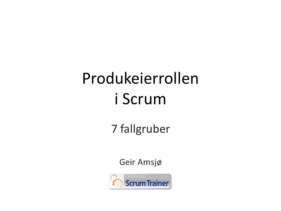 Produkeierrollen i Scrum