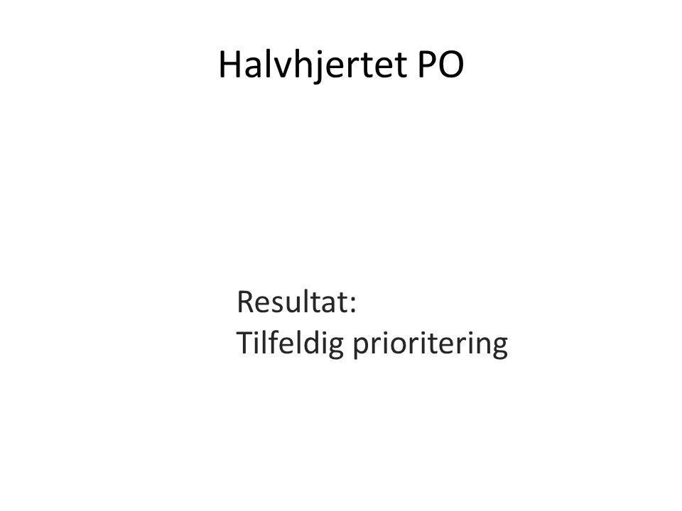 Halvhjertet PO Resultat: Tilfeldig prioritering