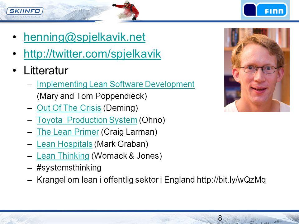 henning@spjelkavik.net http://twitter.com/spjelkavik Litteratur