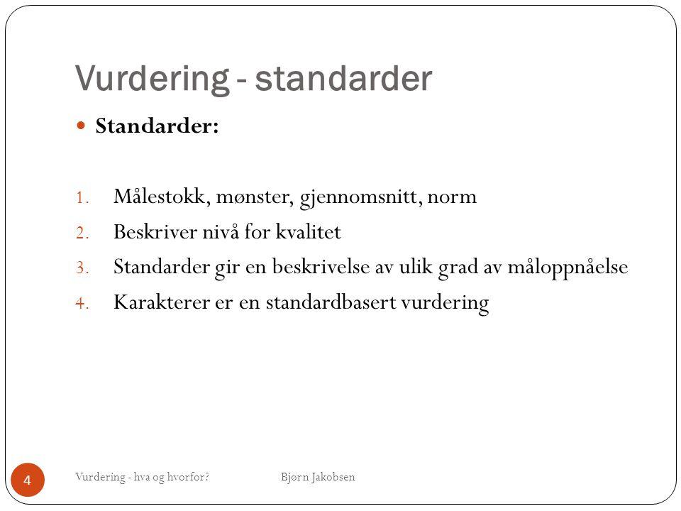 Vurdering - standarder