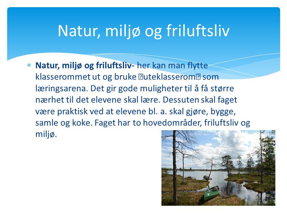 Natur, miljø og friluftsliv