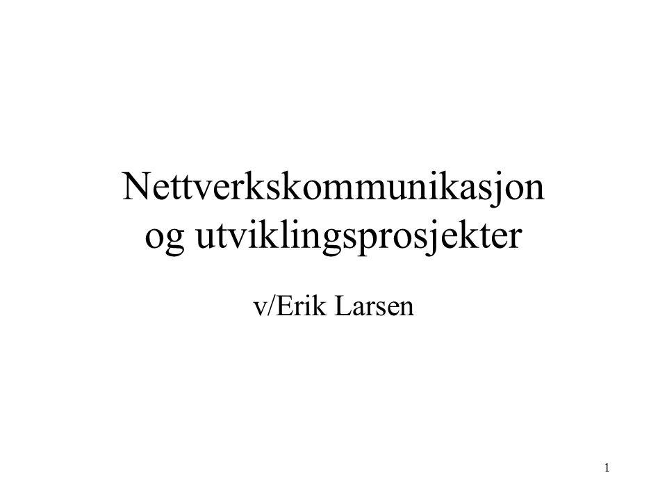 Nettverkskommunikasjon og utviklingsprosjekter