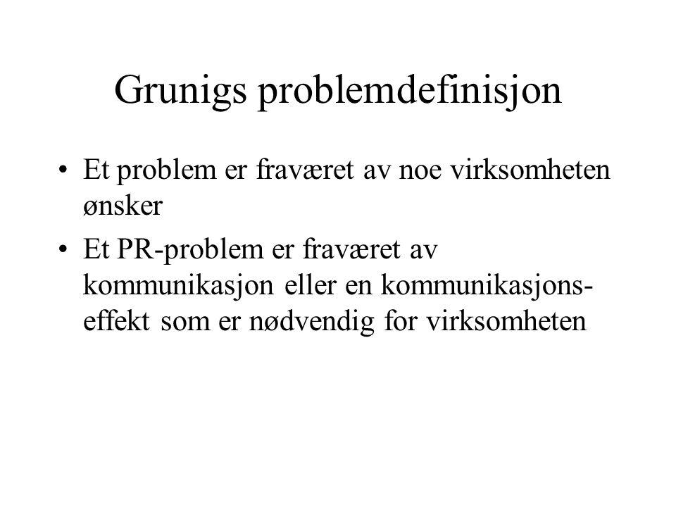 Grunigs problemdefinisjon