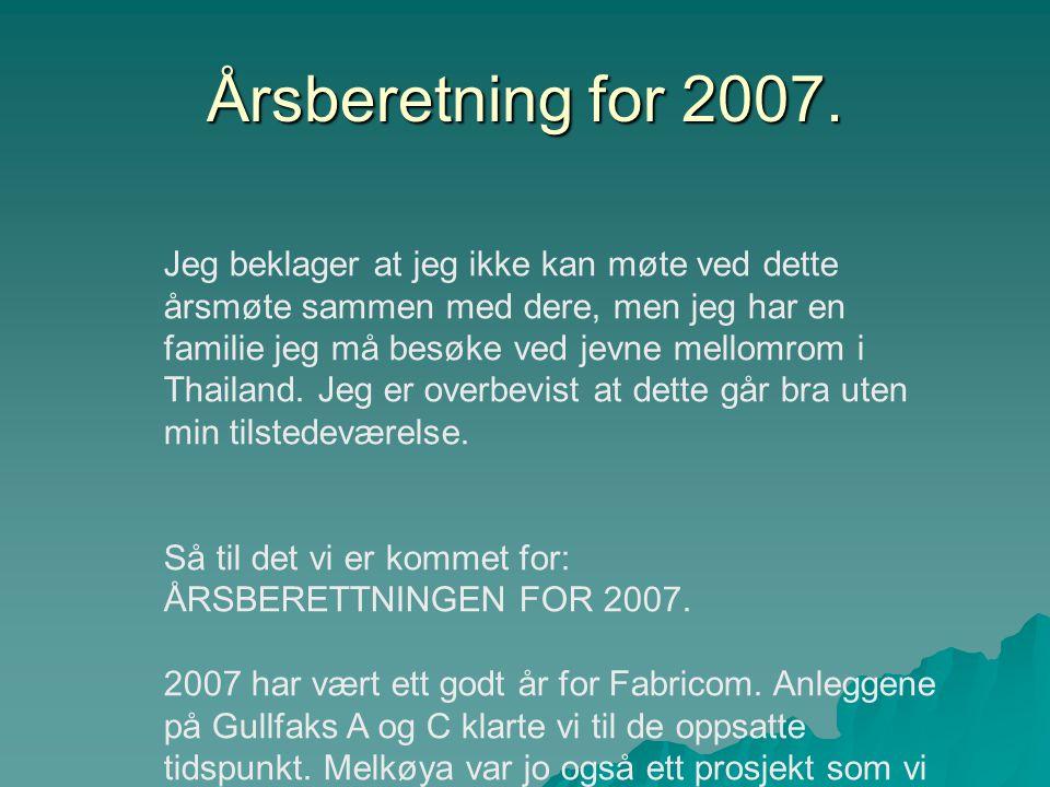 Årsberetning for 2007.