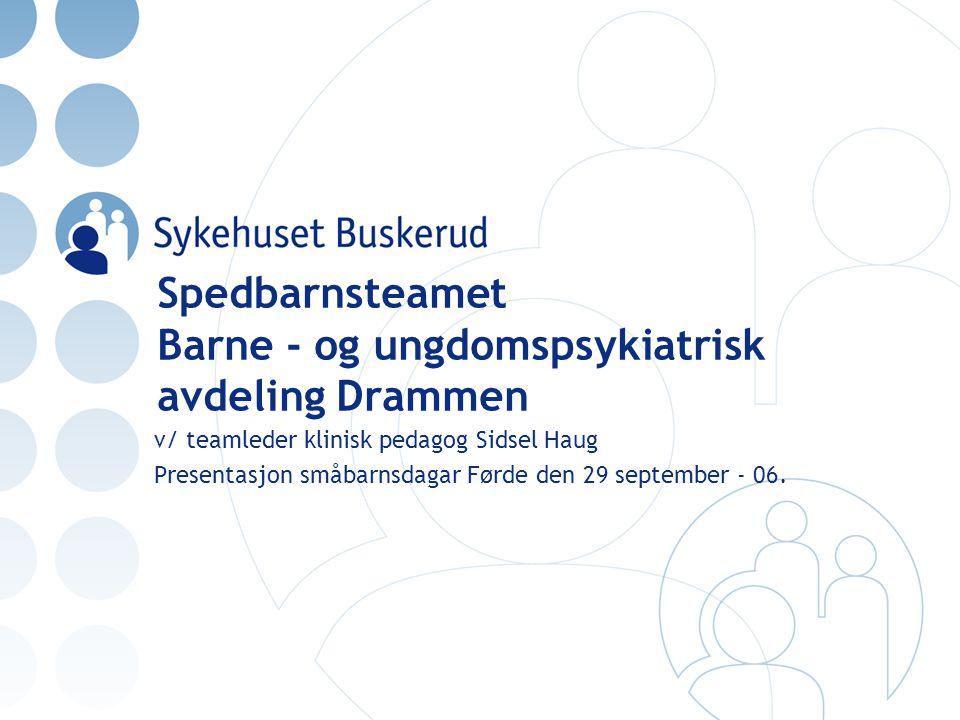 Spedbarnsteamet Barne - og ungdomspsykiatrisk avdeling Drammen