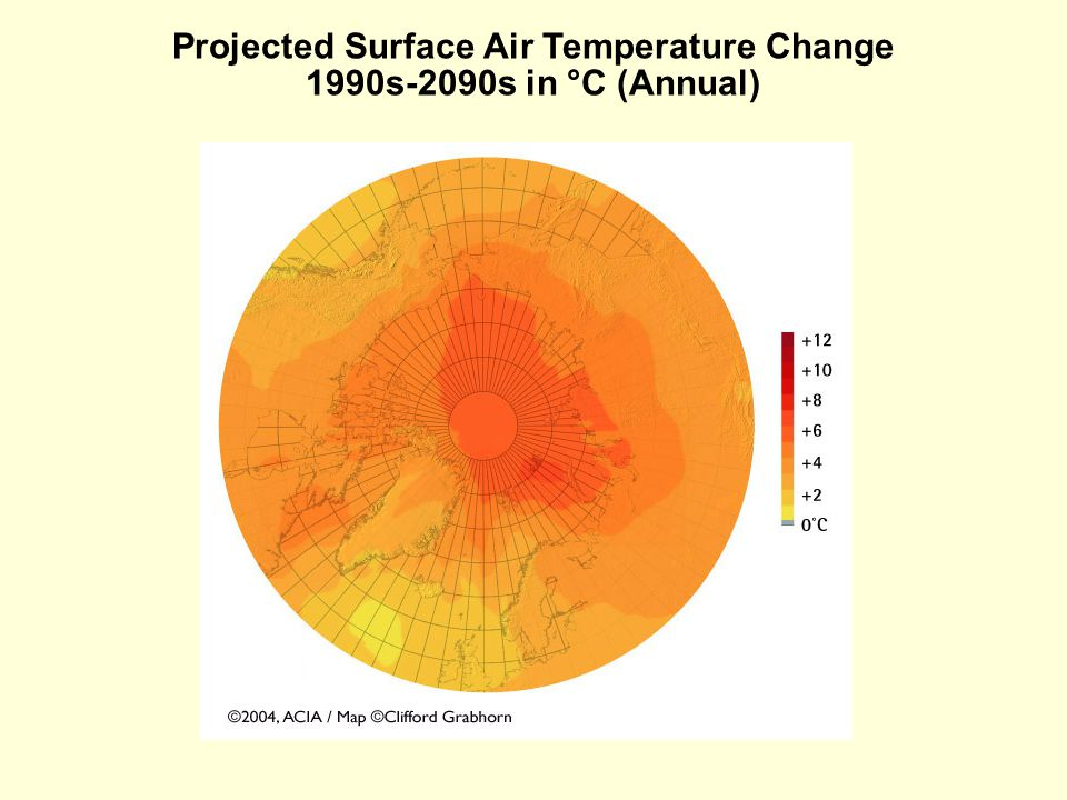 Projected Surface Air Temperature Change